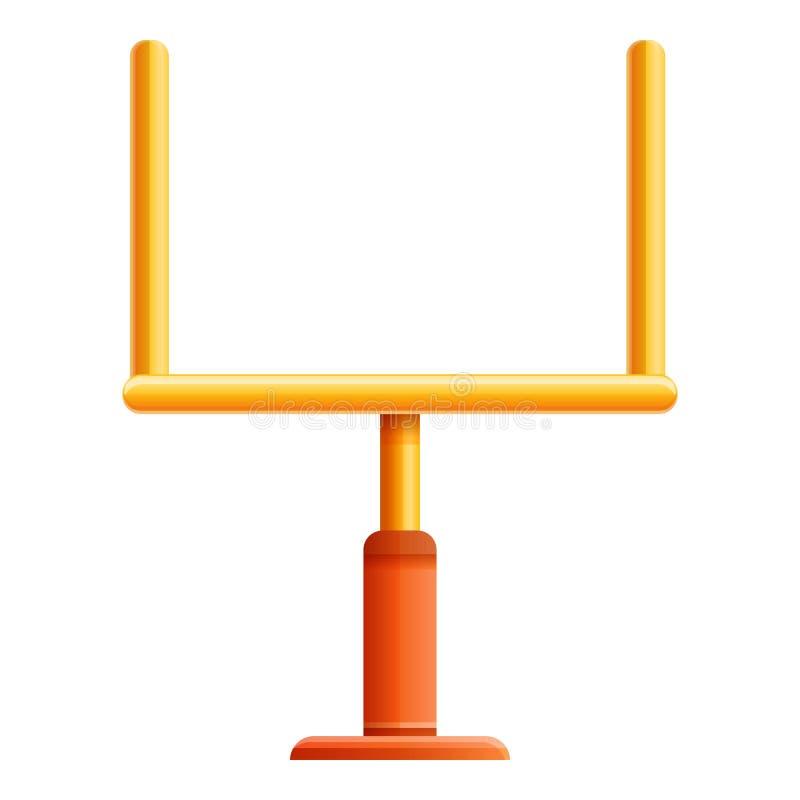 Futbol amerykański bramy ikona, kreskówka styl ilustracji
