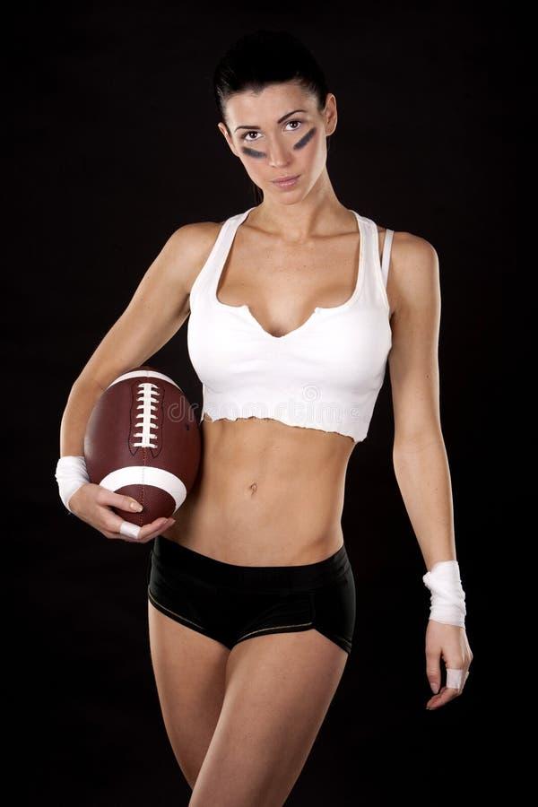 Futbol amerykański dziewczyna zdjęcie stock