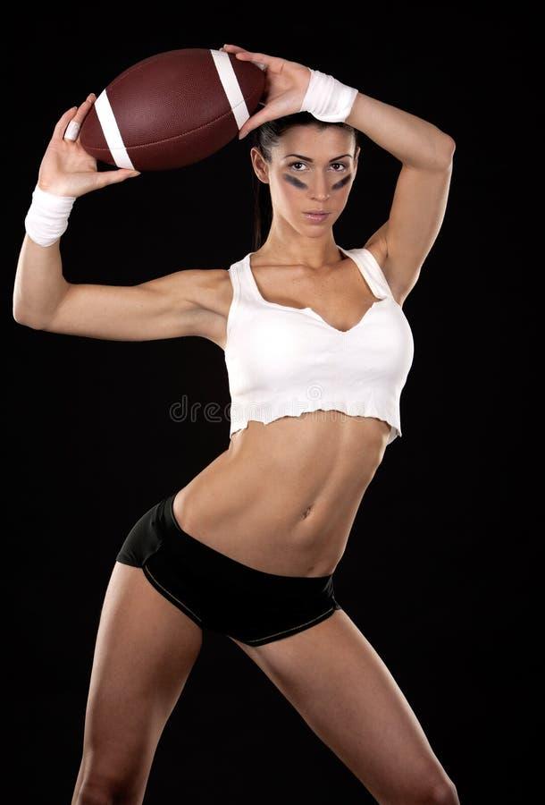 Futbol amerykański dziewczyna zdjęcia royalty free