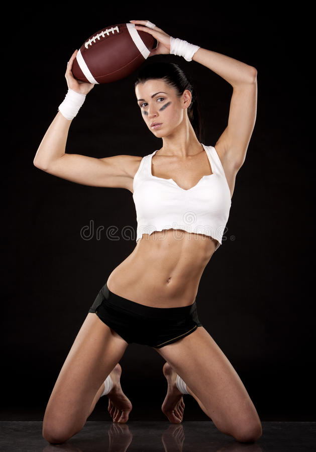 Futbol amerykański dziewczyna obrazy stock