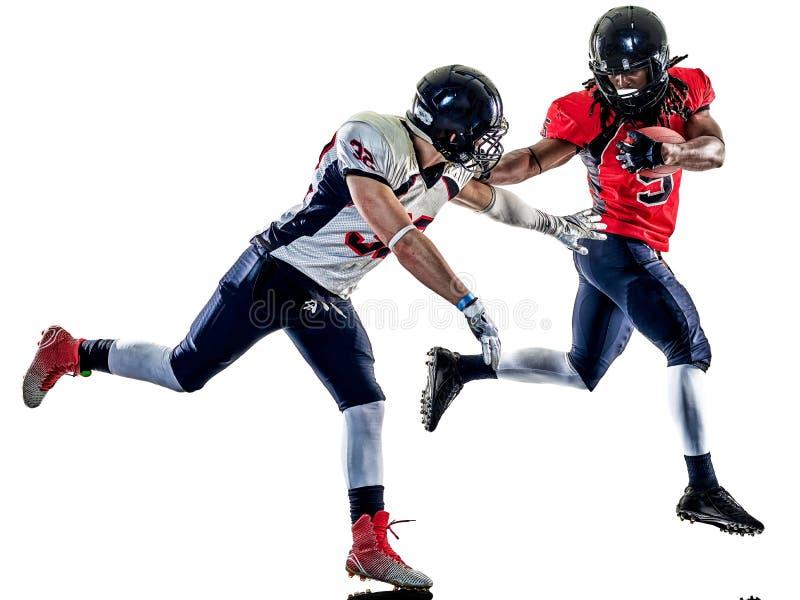 Futbol amerykański graczów mężczyzna odizolowywający zdjęcie royalty free