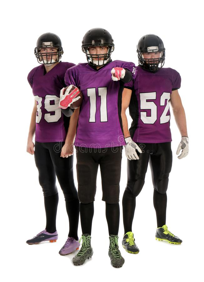 futbol amerykański graczów mundur zdjęcie stock
