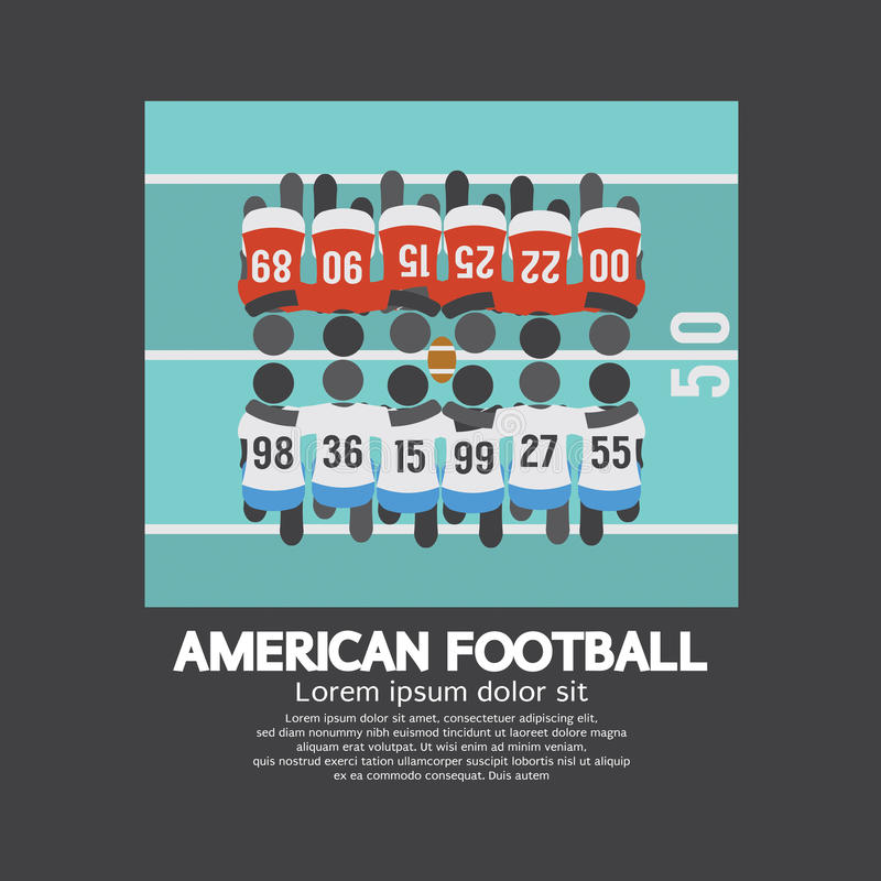 Futbol Amerykański graczów Odgórny widok royalty ilustracja