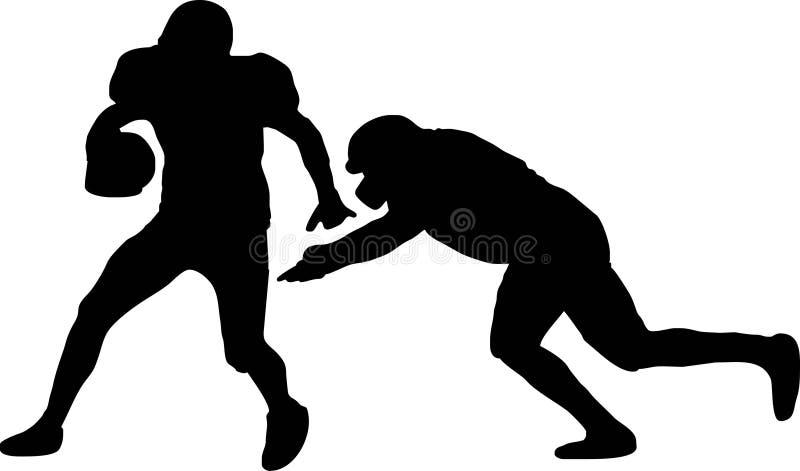 futbol amerykański gracze 2 royalty ilustracja