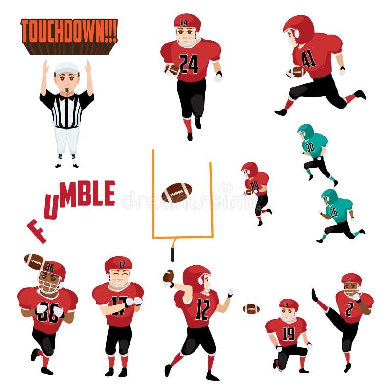 Futbol Amerykański ikon Cliparts projekta elementy royalty ilustracja