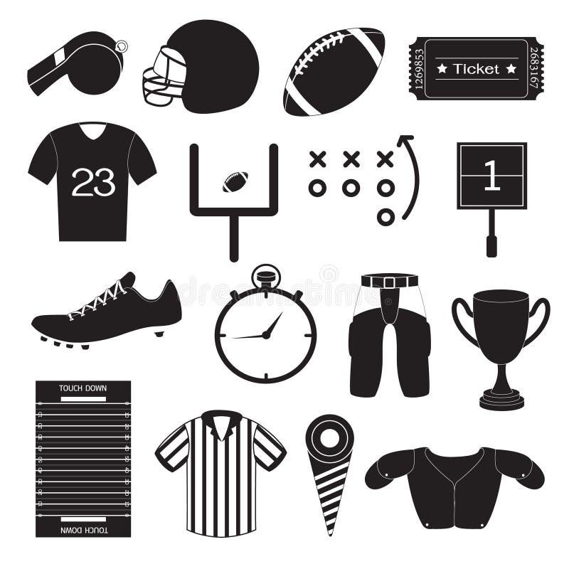 Futbol Amerykański ikon wektoru set ilustracja wektor