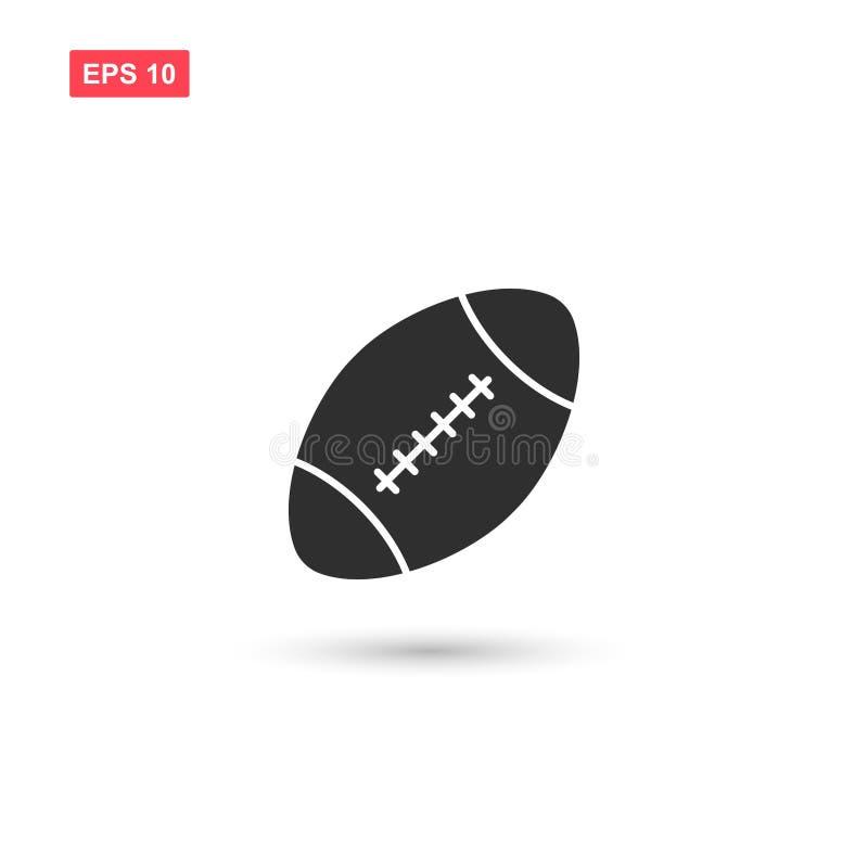 Futbol amerykański ikony balowy wektorowy projekt odizolowywający ilustracja wektor