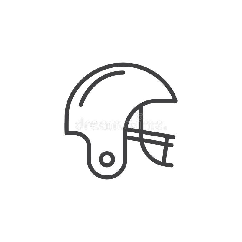 Futbol amerykański kreskowa ikona ilustracji