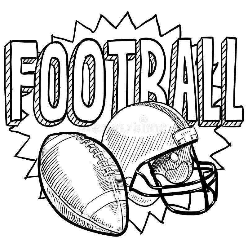 Futbol amerykański nakreślenie ilustracji