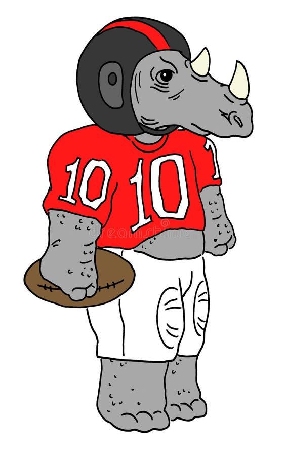 futbol amerykański nosorożec ilustracja wektor