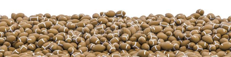 Futbol amerykański panorama ilustracja wektor
