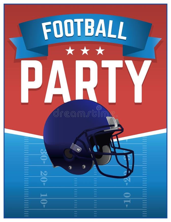Futbol amerykański partyjna ilustracja royalty ilustracja