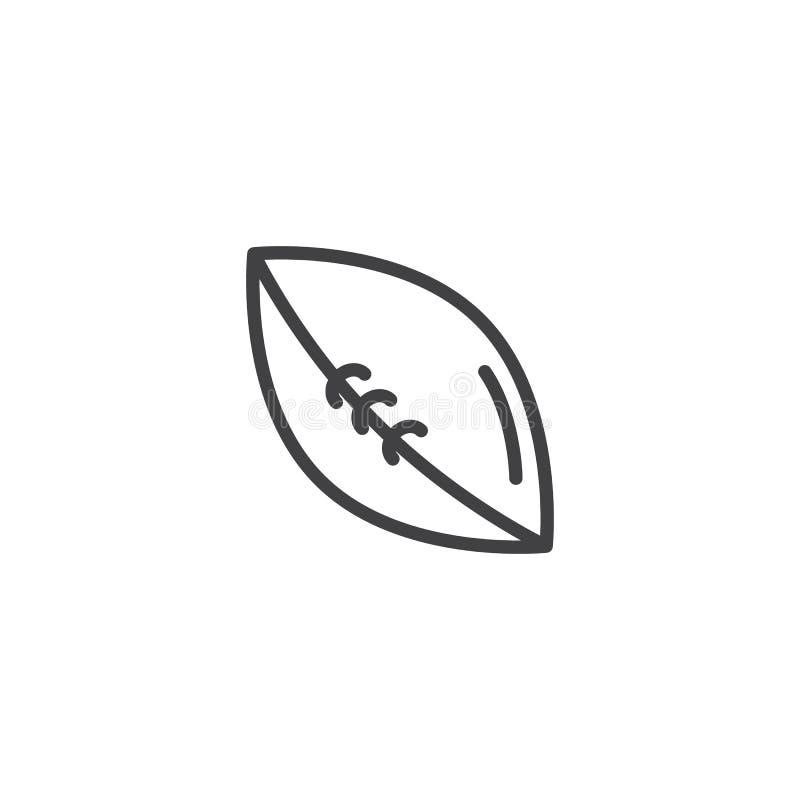 Futbol amerykański piłki linii ikona ilustracji