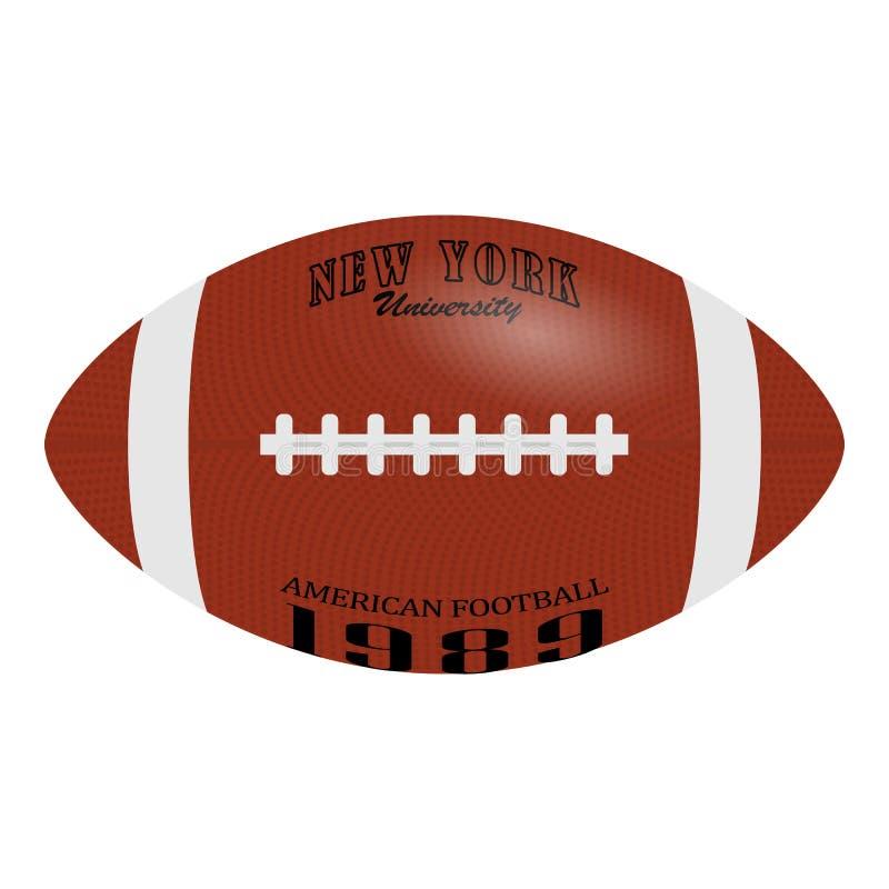 Futbol Amerykański, rugby piłka odizolowywająca na białym tle Realistyczna wektorowa ilustracja Rugby sport royalty ilustracja