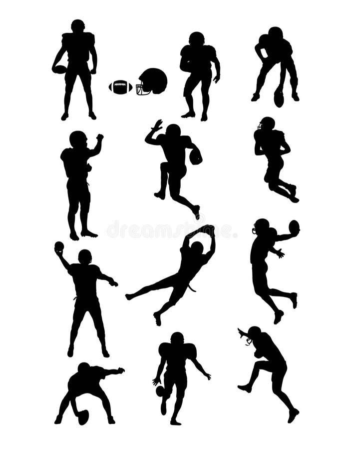 futbol amerykański sylwetki ilustracja wektor