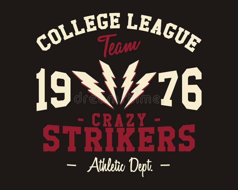 Futbol amerykański szkoły wyższa ligowa odznaka, logo ilustracja wektor