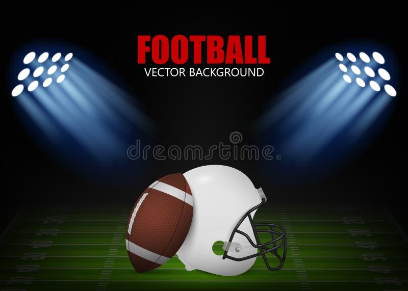 futbol amerykański tło ilustracji