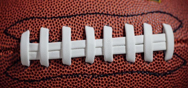 Futbol amerykański tekstura i koronki zdjęcia stock