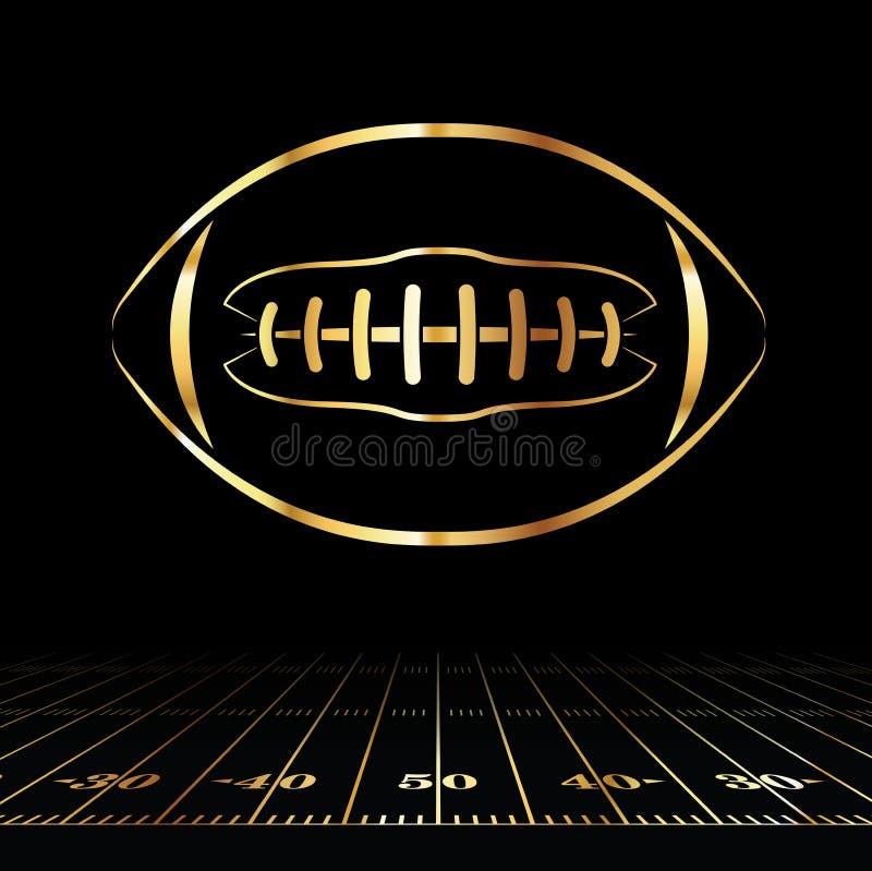 Futbol Amerykański Złota ikona royalty ilustracja