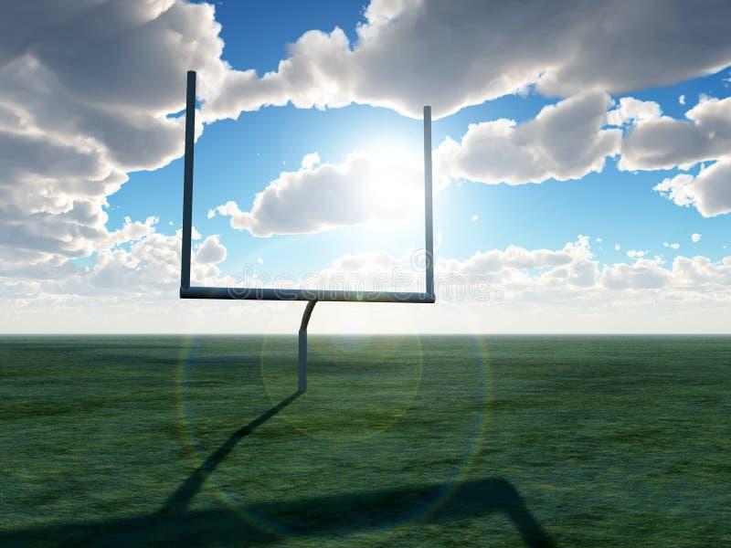 Download Futbol Amerykański Cel obraz stock. Obraz złożonej z chmura - 7581909