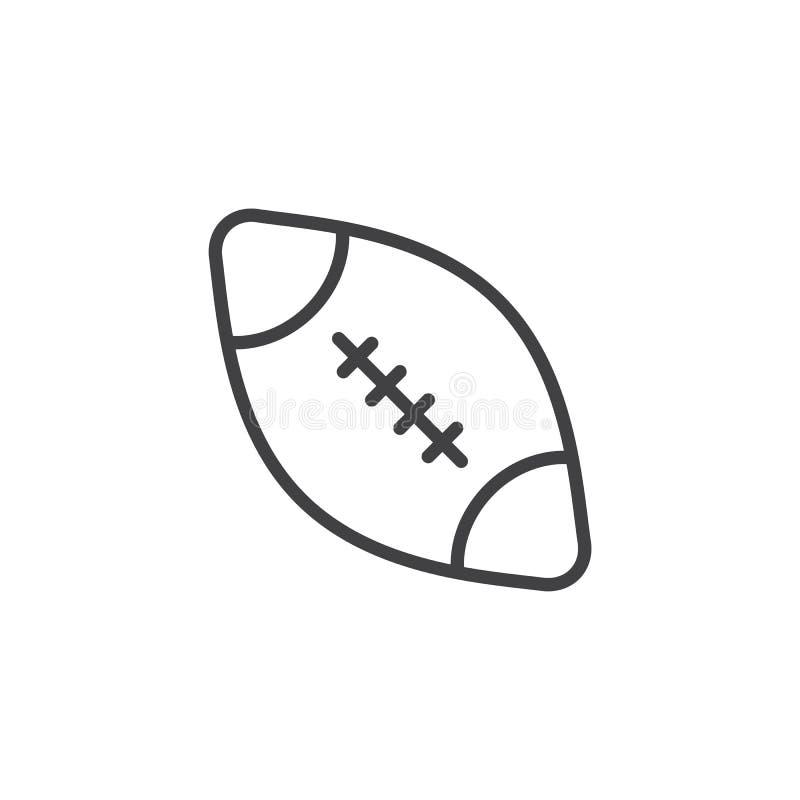 Futbol ameryka?ski pi?ki linii ikona royalty ilustracja