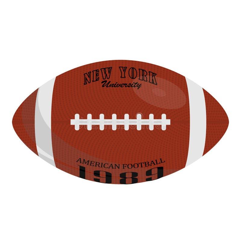Futbol ameryka?ski rzemienna balowa ikona P?aska ilustracja futbol ameryka?ski rzemienna balowa wektorowa ikona dla sie? projekta ilustracji