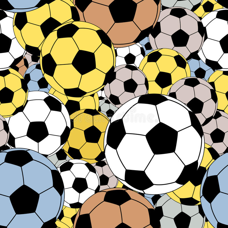 Futbol bezszwowa płytka royalty ilustracja