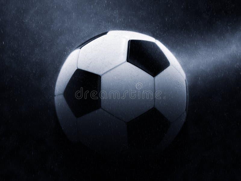 Futbol - epicki noc deszczu strzał ilustracja wektor