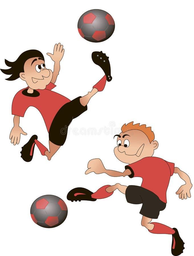 Futbol, kreskówka, wektor royalty ilustracja