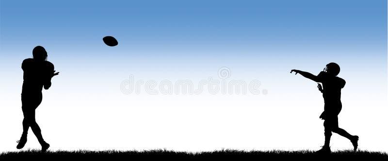futbol lądowanie royalty ilustracja