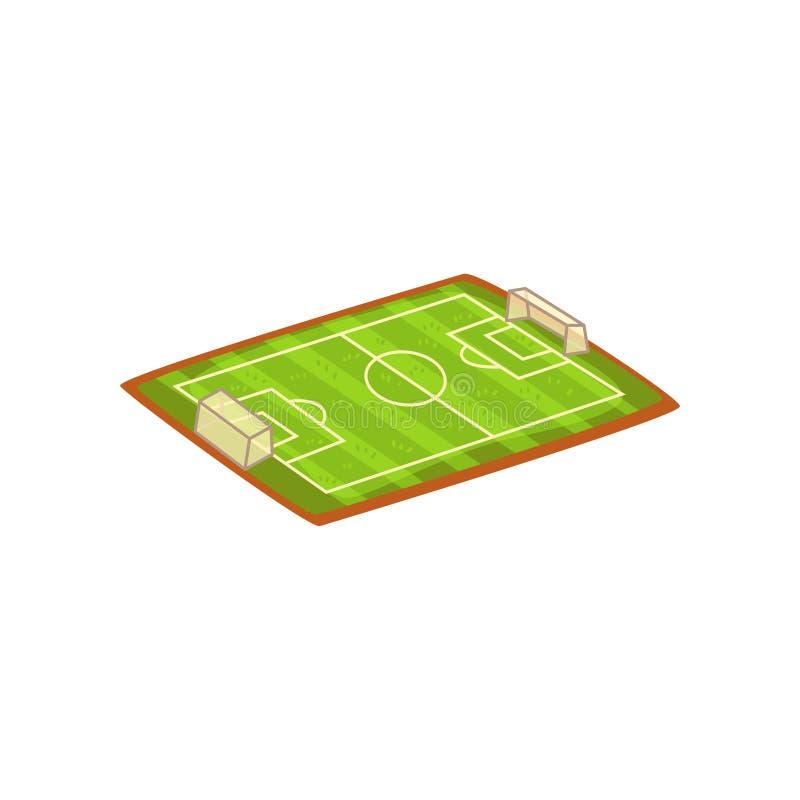 Futbol lub stadium piłkarski, sporty gruntujemy wektorową ilustrację na białym tle ilustracja wektor