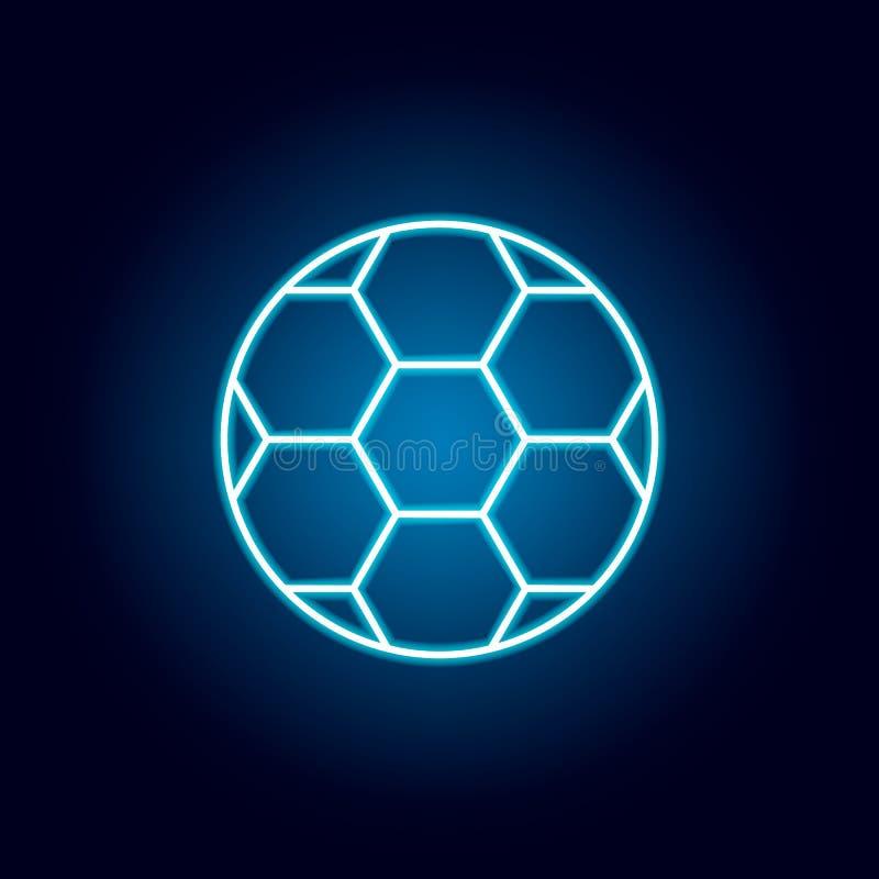 futbol, piłka nożna, sporta konturu ikona w neonowym stylu elementy edukacji ilustracji linii ikona znaki, symbole mogą używać dl ilustracji