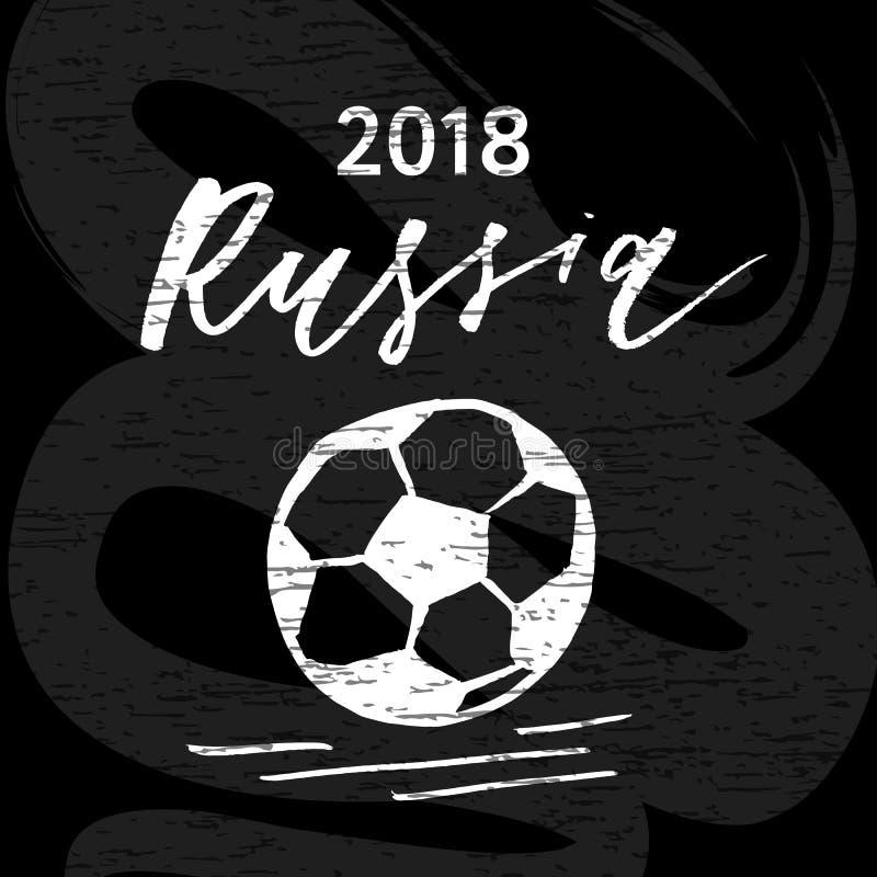 Futbol piłki Chorągwianego Wektorowego muśnięcia ilustracyjny sport ilustracja wektor