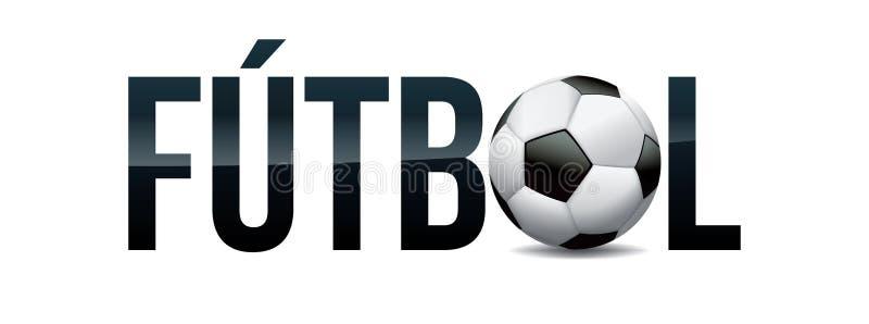 Futbol piłki nożnej pojęcia słowa sztuki Futbolowa ilustracja ilustracja wektor