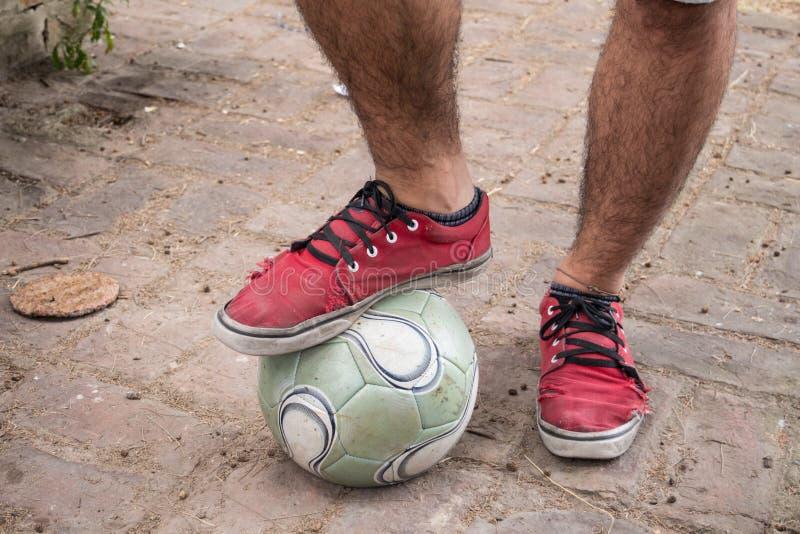 futbol pozwalać sztuka obraz stock