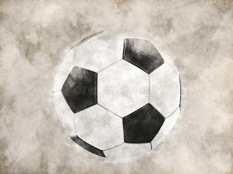 Futbol - ręka rysująca ilustracja ilustracja wektor