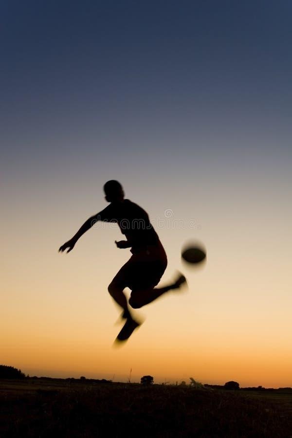 futbol słońca fotografia stock