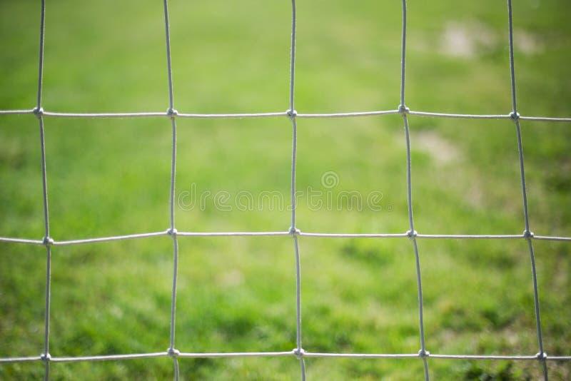 Futbol sieć fotografia stock