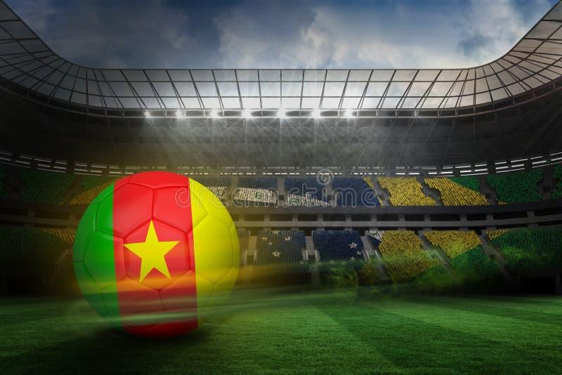 Futbol w Cameroon colours obraz stock