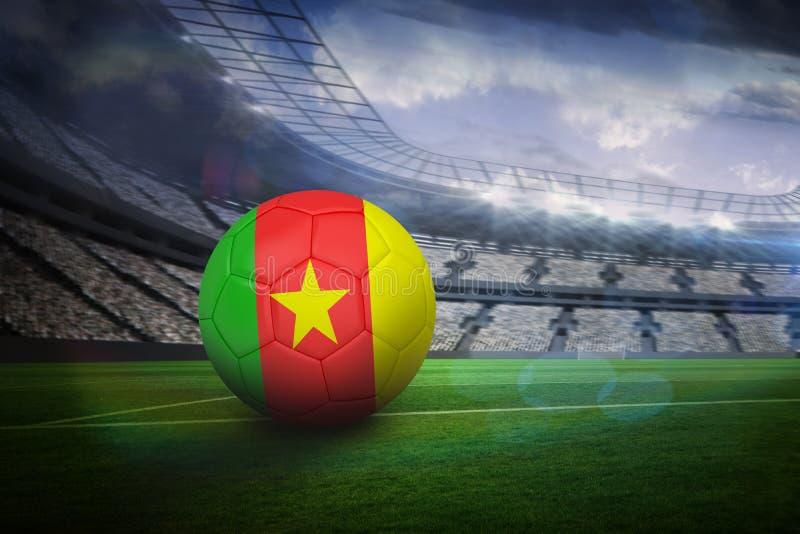 Futbol w Cameroon colours fotografia stock