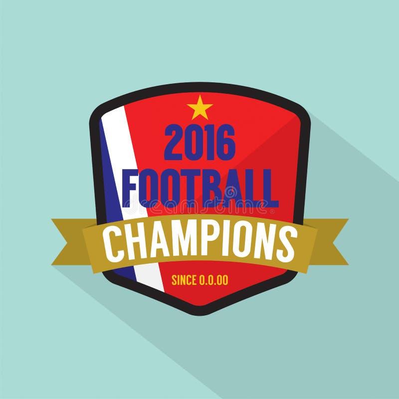 2016 futbol Wstawia się odznakę ilustracja wektor