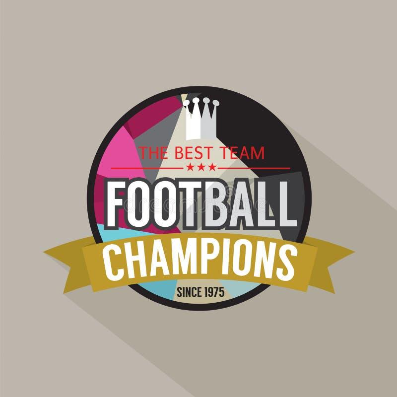 Futbol Wstawia się odznakę royalty ilustracja