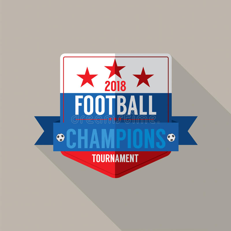 2018 futbol Wstawia się odznaka wektor royalty ilustracja