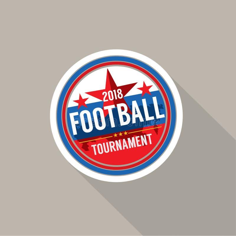 2018 futbol Wstawia się odznaka wektor ilustracja wektor