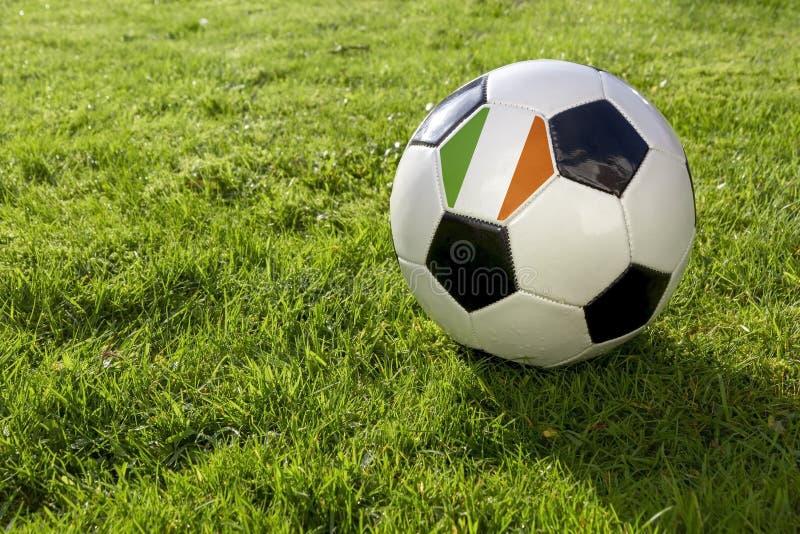 Futbol z flagą zdjęcia stock