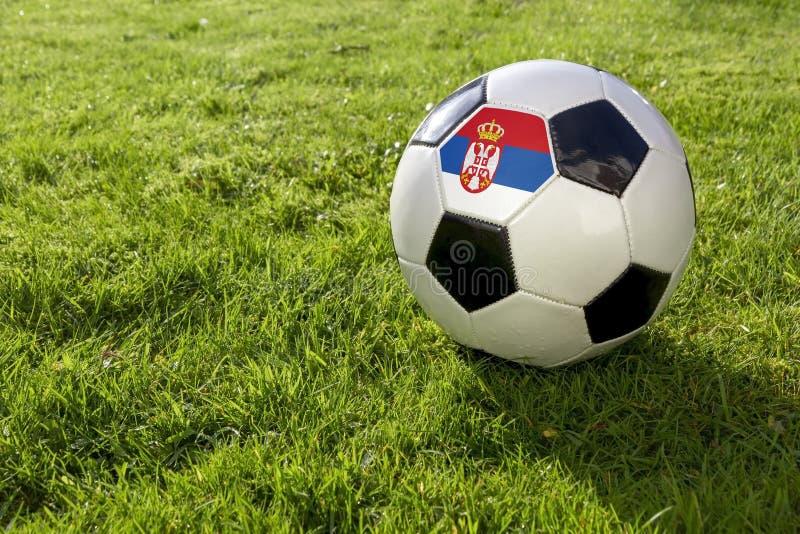 Futbol z flagą zdjęcia royalty free