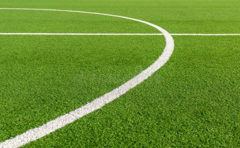Futbol ziemia pole piłka nożna linie sport Zieleń zdjęcie stock