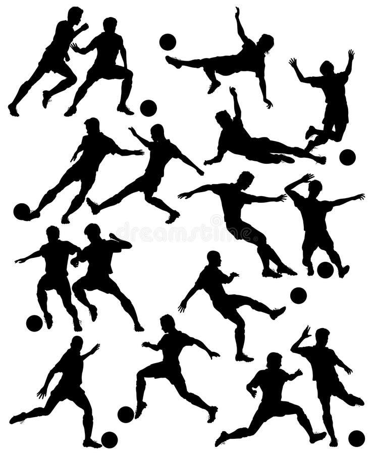 Futboliści ilustracja wektor