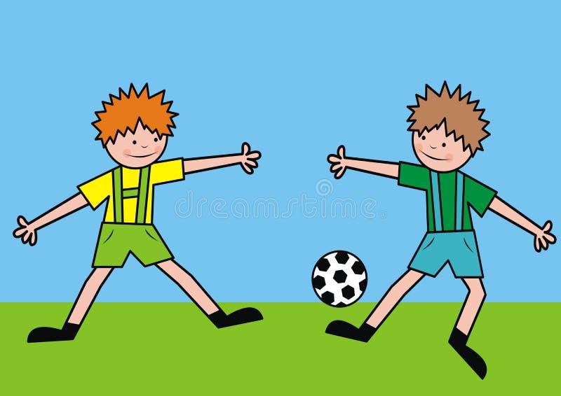 Futboliści ilustracji