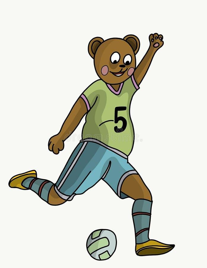 Futbolist do urso ilustração royalty free